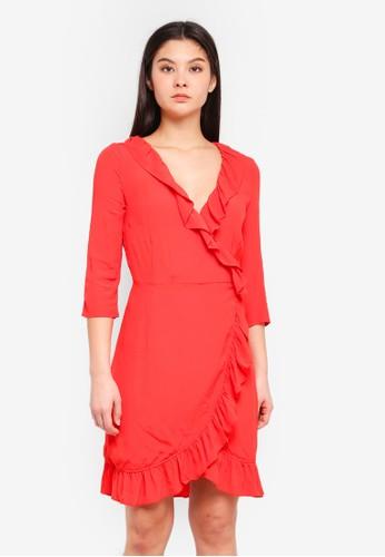 ICHI red Carat Dress E42B1AA80B955AGS_1