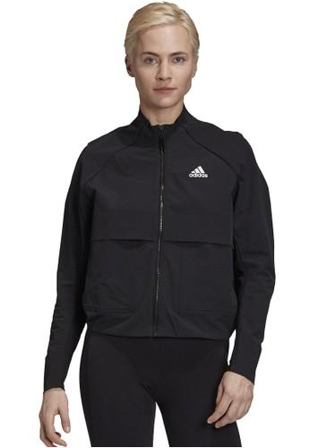 ADIDAS black vrct woven jacket D2DE6AAC5C4A99GS_1