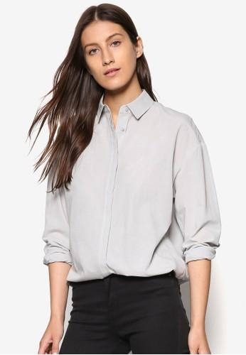 簡約抽繩esprit 台北長袖襯衫, 服飾, 服飾