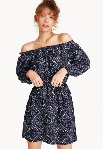 f46e93ef15b Buy Pomelo Mini Paisley Print Off Shoulder Dress Online on ZALORA ...