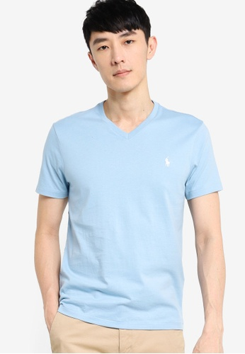 Polo Ralph Lauren blue Short Sleeve Crewneck Custom Slim fit T-Shirt B5419AAA5C5525GS_1