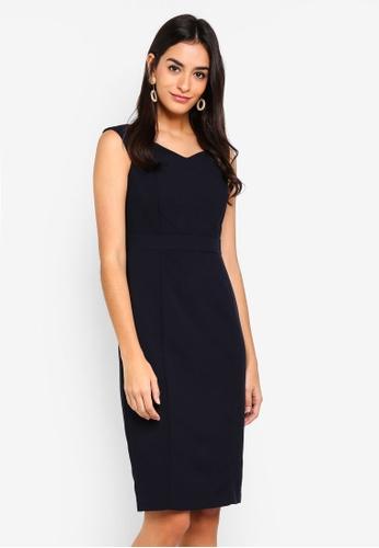 Dorothy Perkins navy Navy Sweetheart Dress 3814DAAA5584DAGS_1