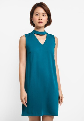 ZALORA blue High Neck Detail Dress 926CCAA7309C65GS_1