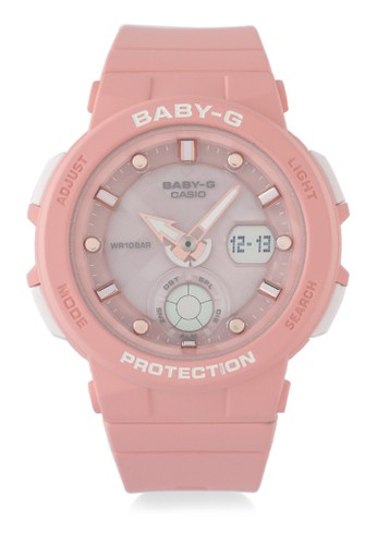 Baby-G pink Casio BABY-G Jam Tangan Wanita - Pink - Resin - BGA-250-4ADR 3DD17ACA429A46GS_1