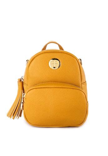Les Catino yellow and multi Paris Etoille Mini Backpack 72FDAAC55DACEBGS_1