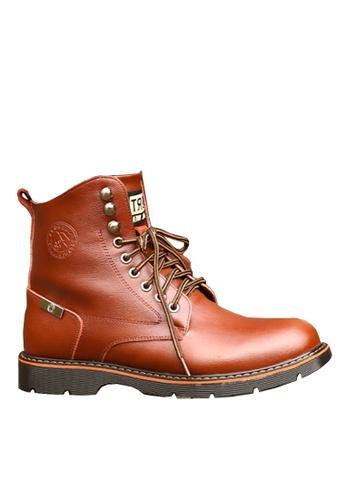 Twenty Eight Shoes 褐色 牛皮中筒靴 VMB86345 08F10SHAC62FACGS_1