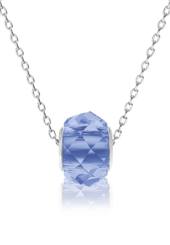 Her Jewellery blue BeCharmed Briolette Bead Pendant (Light Blue) - Made with premium grade crystals from Austria 4ED3EACD81569BGS_1