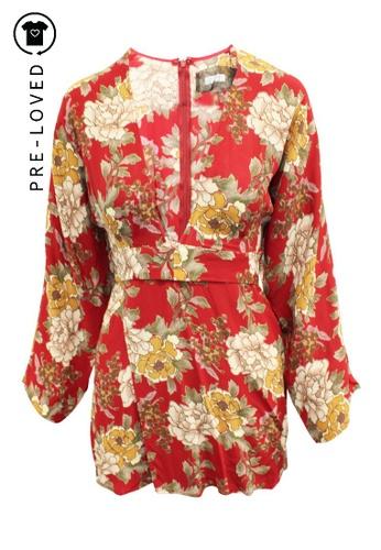 Reformation multi Pre-Loved reformation V-neck Mini Printed Dress with Belt DF632AABBD9956GS_1