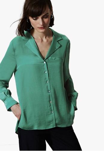 MARKS & SPENCER green Button Detailed Shirt 38E53AAB2845D3GS_1