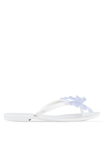 1e00c90a0 Melissa white Melissa Harmonic Bow VI Ad Sandals 32D6DSHBE746EBGS 1