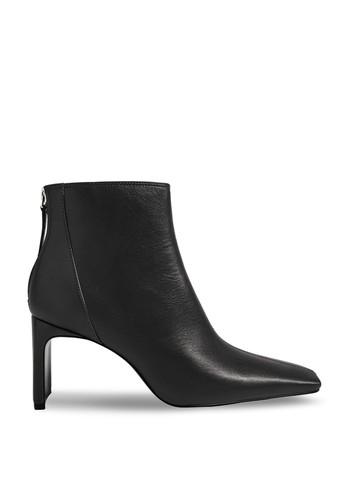 Mango black Squared Toe Ankle Boots 9762ASH3B08343GS_1