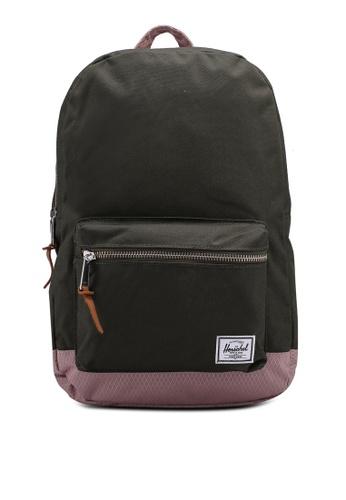 Herschel pink and green Settlement Mid-Volume Backpack B11F9ACA95A6DCGS_1