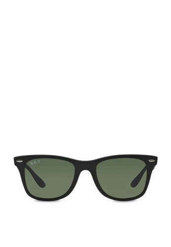 9249cb28b791d Ray-Ban black Wayfarer Liteforce RB4195 Polarized Sunglasses  RA370GL19SEYSG 1
