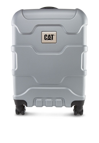 "CAT silver Roll Cage 24"" Trolley Luggage - Metalic CA873AC51FEISG_1"