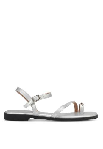 DMK silver Metal Accent Sandals DM860SH0SYGFMY_1