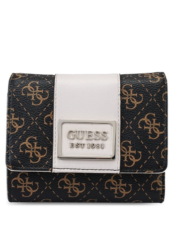 Guess brown Tyren Small Trifold Wallet 1B211ACE2C8DD4GS_1