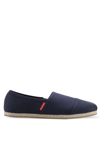 Jack & Jones navy Navy Canvas Slip-Ons 56132SHFE87852GS_1