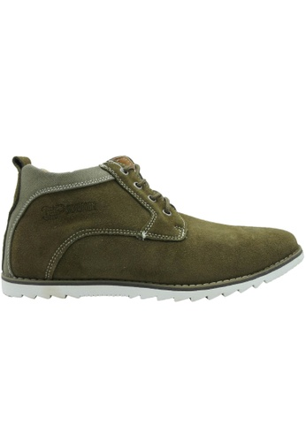 midzone green SCORPION Suede Leather High Cut 1D242SHF135EFDGS_1