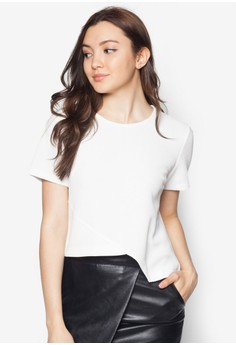 Pieced Panel Boxy Top