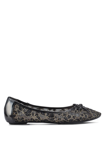 Carlton London 黑色 蕾絲拼接平底鞋 91FB4SHEE7DD07GS_1