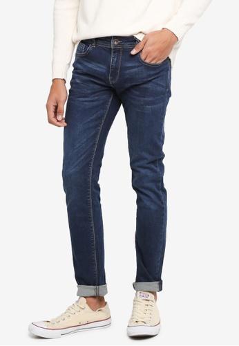 OVS 黑色 窄管牛仔褲 FDAE5AA94D7632GS_1