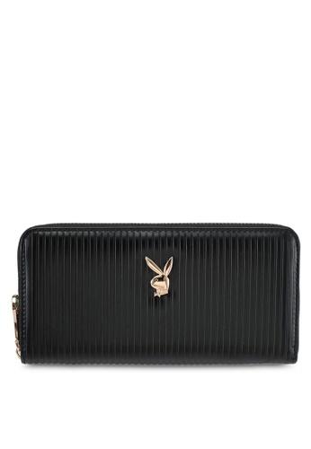 PLAYBOY BUNNY black Playboy Bunny Long Zip Purse PL604AC0SKNFMY_1