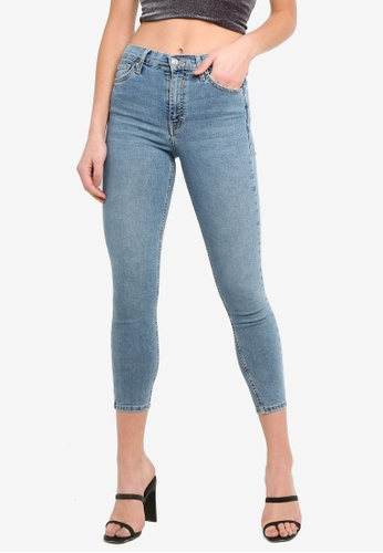 TOPSHOP 藍色 Bleach Jamie Jeans F832FAA1AED20CGS_1