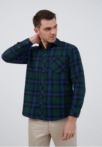 Berrybenka Label green Joe Flannel Shirt Green 56731AA1E7DE03GS_1