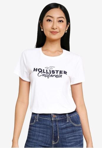 Hollister white Tech Core Top 0A04EAA77F323BGS_1
