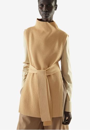 COS beige Wool Mix Tabard Sweater Vest 931A3AA82DF138GS_1