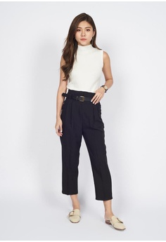 7a7c4ee7f81 Sophialuv black Tailored Cropped Pants in Brlack A59B8AA51CBE51GS_1