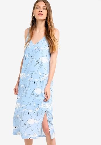 Something Borrowed blue Strappy Midi Dress 480DBAAE738B28GS_1
