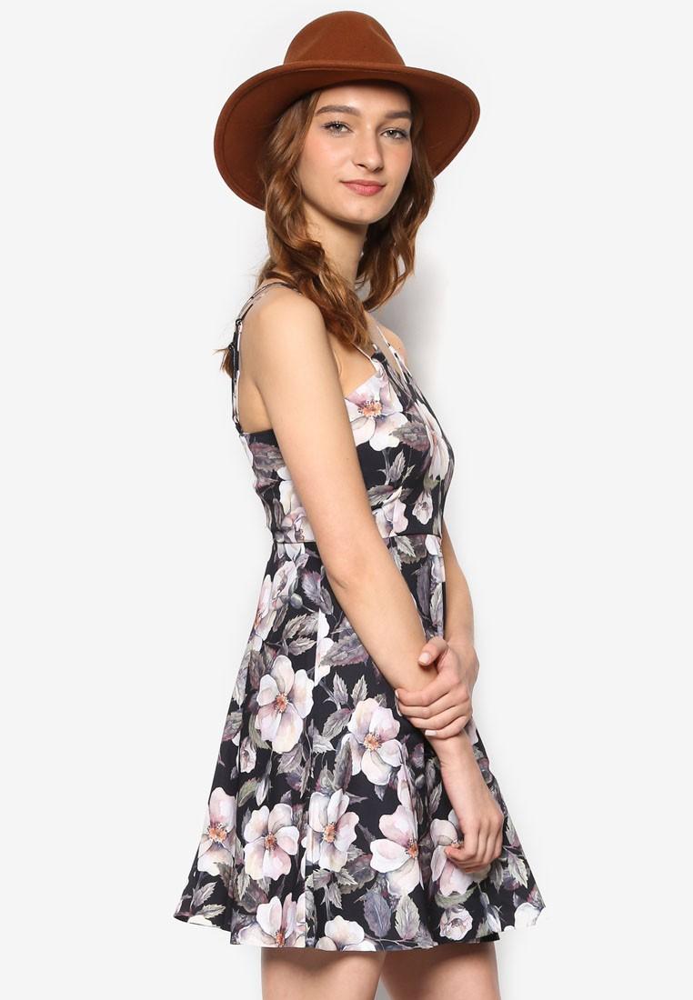 Love Angular Neck Fit & Flare Dress