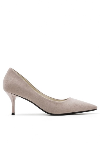 Twenty Eight Shoes beige 6.5CM Pointy Pumps 208-1 57119SHB861BF1GS_1