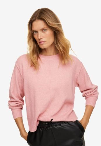 Mango pink Flecked Knit Sweater 822AFAA28023F1GS_1