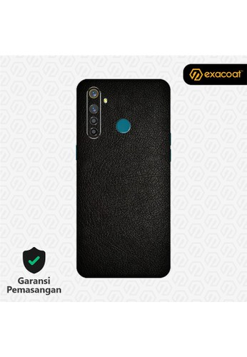 Exacoat Realme 5 / 5 Pro 3M Skins Leather Series - Leather Black DB477ESAFC9D4BGS_1