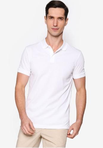 BOSS white Piro Polo Shirt CA476AADE061B1GS_1