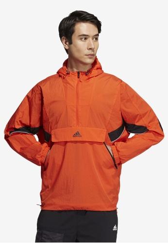 ADIDAS orange sportswear street woven exg jacket C2514AA8618793GS_1