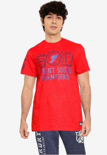 Superdry 紅色 T&F T恤 559DDAA91E597DGS_1