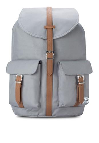 Daesprit 西裝wson 雙翻蓋口袋後背包, 包, 後背包