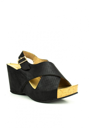 Cardam's Lifestyle black Chanse Wedges 6886DSH6A525E9GS_1