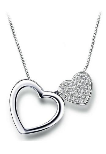 Vivere Rosse silver Precious Heart Multiway Necklace VI014AC74SKFMY_1