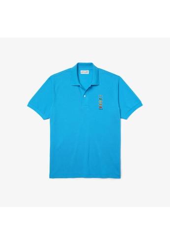 Lacoste blue Men's Polaroid Collaboration Coloured Crocodiles Classic Fit Polo Shirt D2B75AA04561BAGS_1