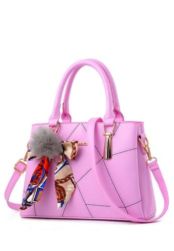 TCWK pink TCWK Korea Style Pink Ladies Handbag TC258AC0S9WKMY_1