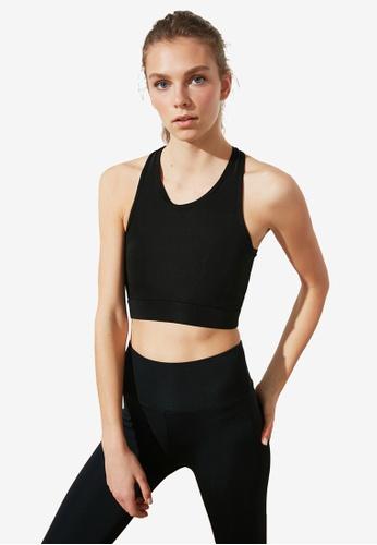 Trendyol black Back Cut-Out Detailed Sports Bra 8ABFEUS6E7EABCGS_1
