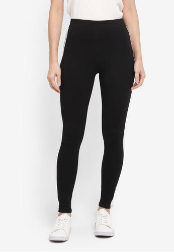 Miss Selfridge black Side Stripe Leggings 926B8AA291245CGS_1