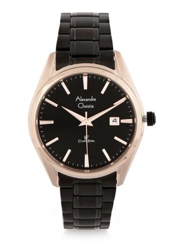 Alexandre Christie black Alexandre Christie Jam Tangan Wanita - Black Rosegold - Stainless Steel - 8554 LDBBRBA E3408AC43759EAGS_1