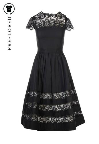 Alice + Olivia black Pre-Loved alice + olivia Apron Dress With Crochet Collar 0CE5DAAC4195CBGS_1