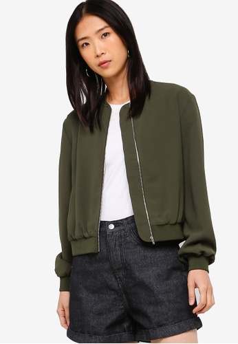 ZALORA BASICS green Basic Bomber Jacket 677F2AA3245465GS_1