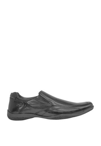 Hush Puppies black Waldorf Dress Casual Shoes HU326SH0J3XHPH_1